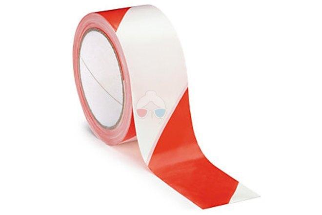 Cinta de Baliza Adhesiva blanca y roja - Tesa 50mm x 33m