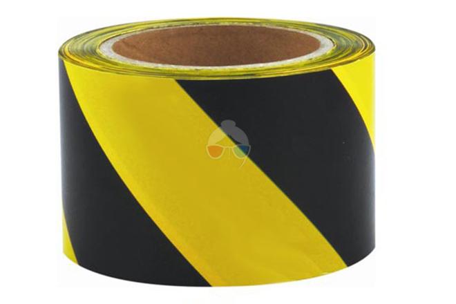 Cinta de baliza amarilla y negra Adhesiva