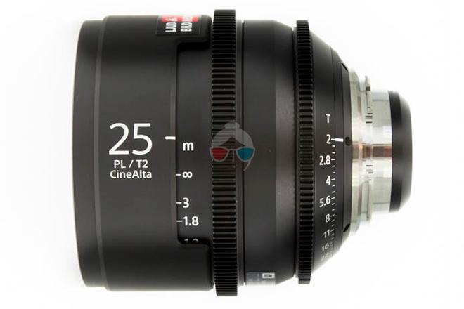 Sony 25 mm Cinealta T2.0